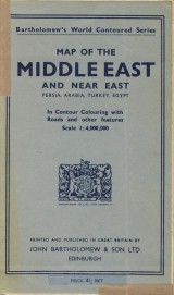 : Map of the Middle East and Near East 1: 4 000 000